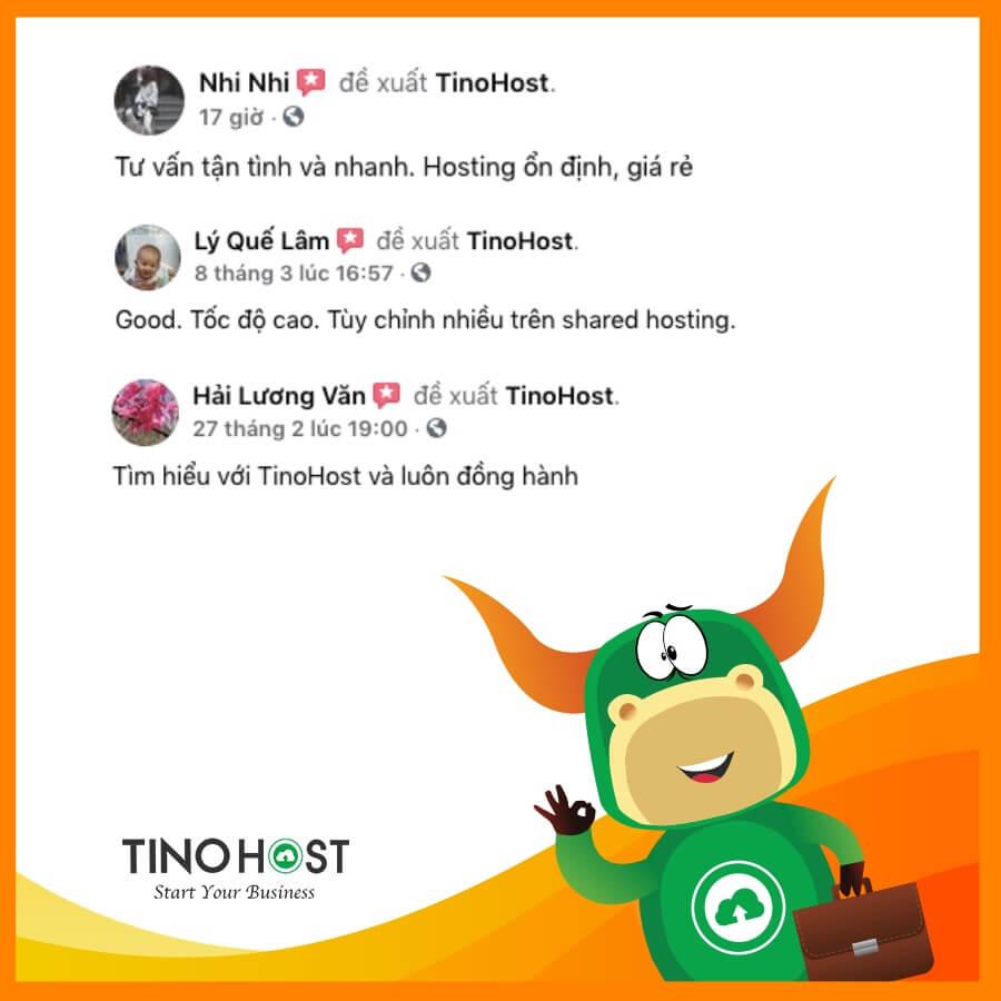 Feedback của khách hàng khi thuê hosting bên Tinohost
