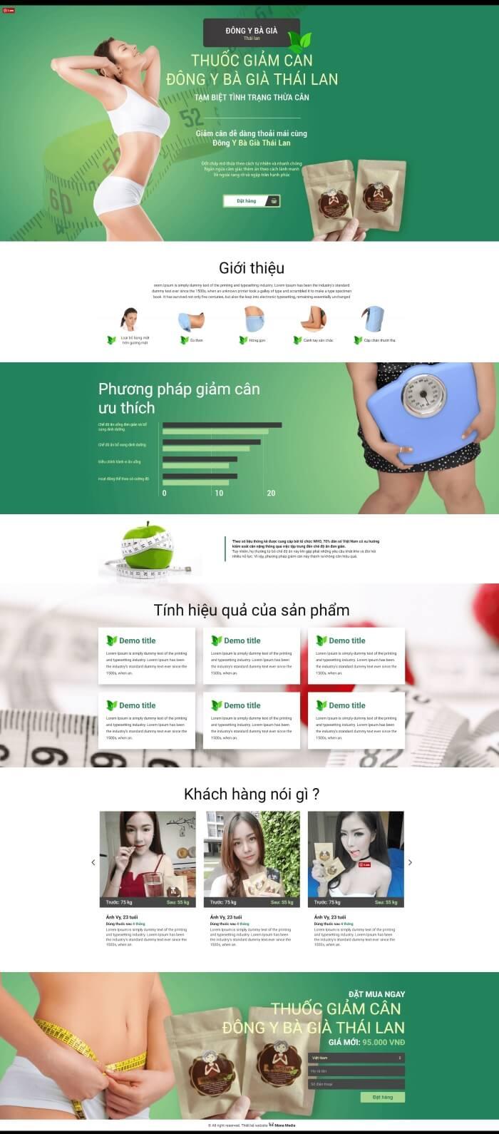 Landing page bán thực phẩm chức năng