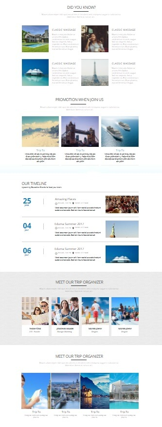 Landing page du lịch