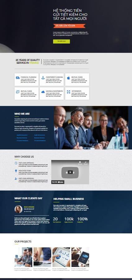 Landing Page tài chính