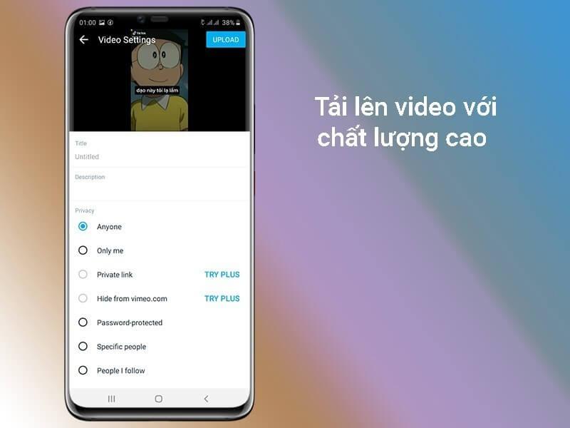 tải video chất lượng cao lên Vimeo dễ dàng