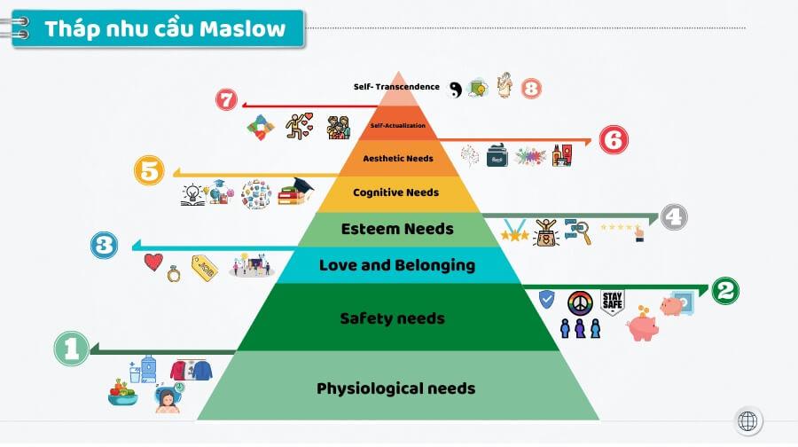 Tháp nhu cầu Maslow và tâm lý học nhân văn