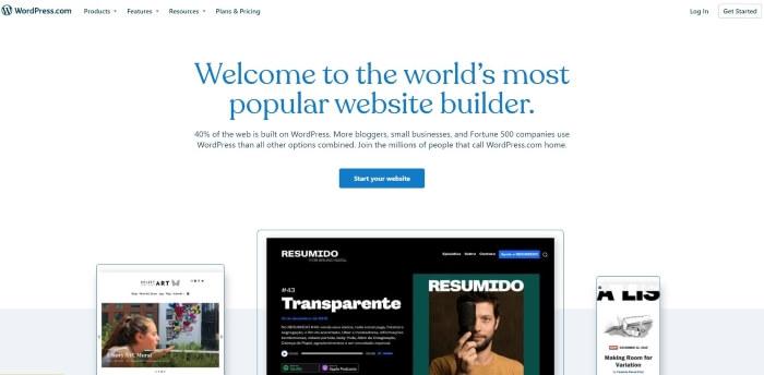 Trang chủ của WordPress.com