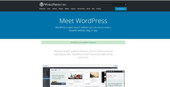 Trang chủ của WordPress.Org