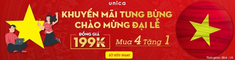 chỉ 199k/khóa học Unica