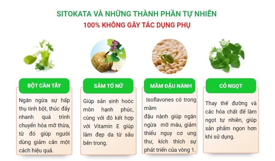 Công dụng của bột cần tây Sitokata