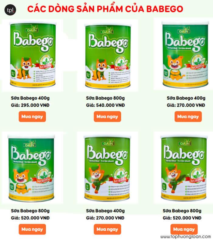 Giá sữa Babego