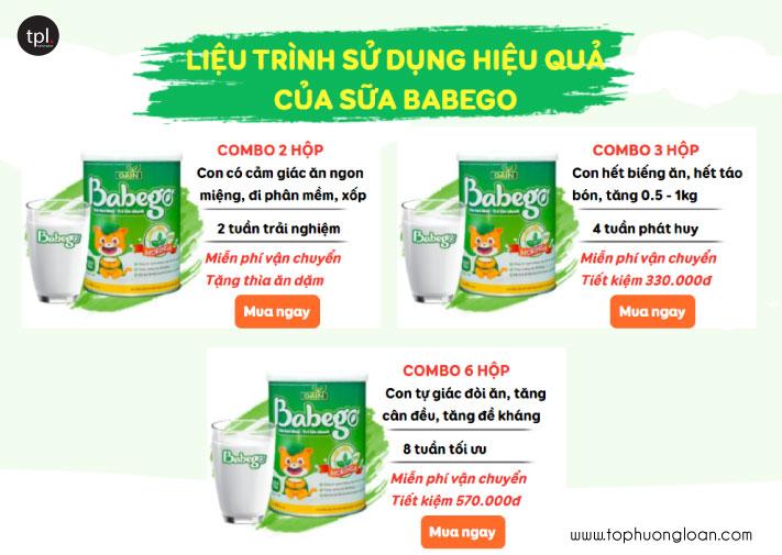Liệu trình sử dụng Babego hiệu quả nhất!