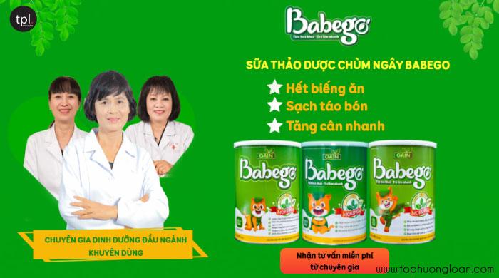 Sữa thảo dược chùm ngây phù hợp với bé cần tăng cân, biếng ăn, táo bón