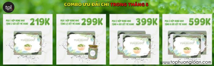 Rong nho Yukibudo giá bao nhiêu?